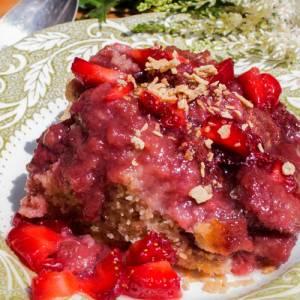 Pouding fraises/rhubarbes