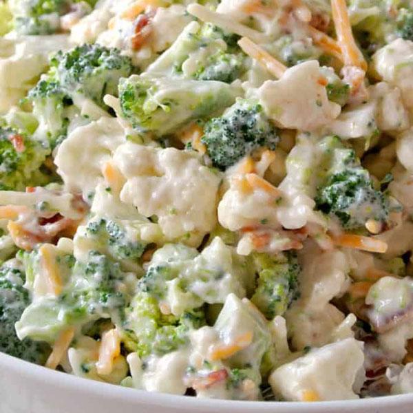 Salade broco/chou-fleur